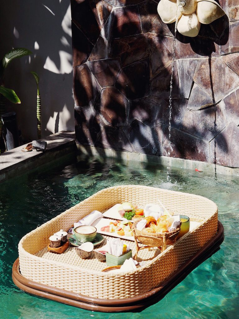 Floating breakfast in Bali