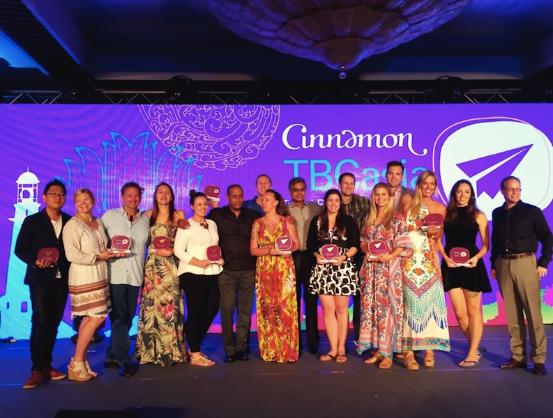 Everyone's a winner! Award-winning travel bloggers on stage at TBCAsia
