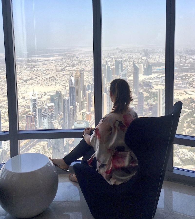 Soaking up the views from At The Top Burj Khalifa SKY