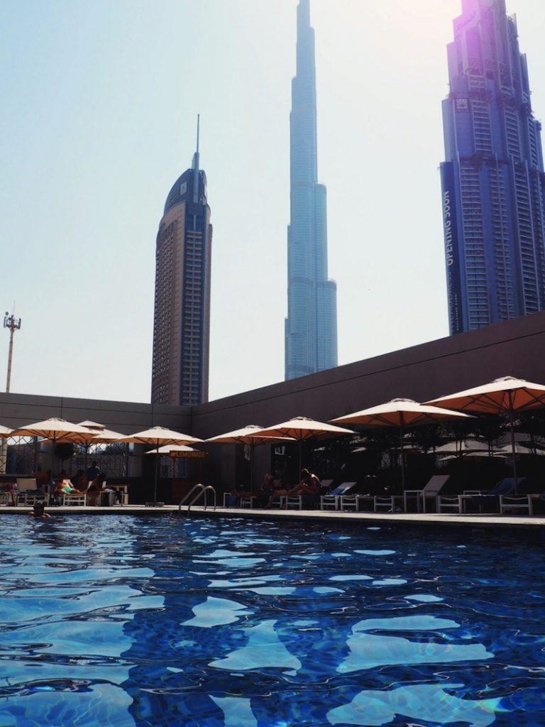 The pool has views too