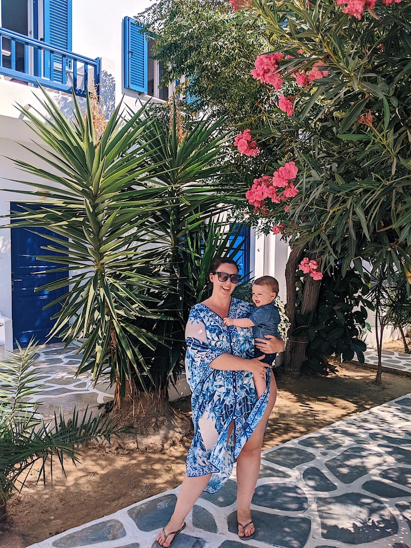 Mykonos holiday with a baby