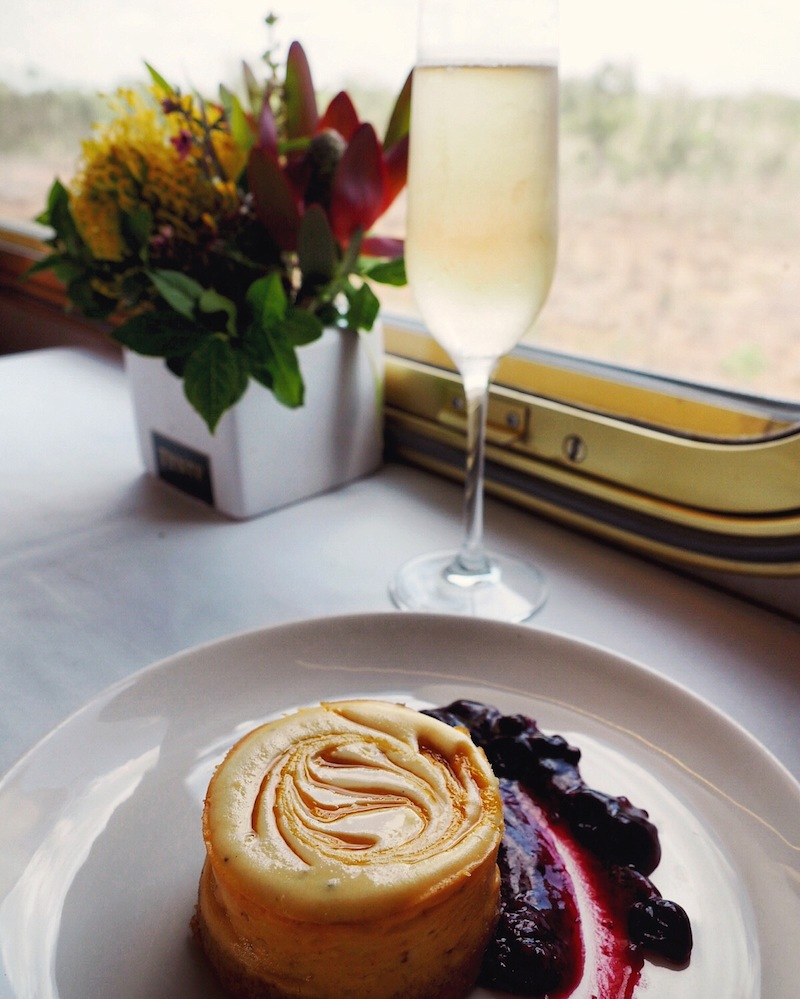 Dessert on board The Ghan