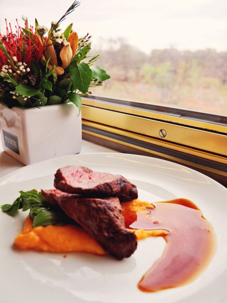 Food on board The Ghan