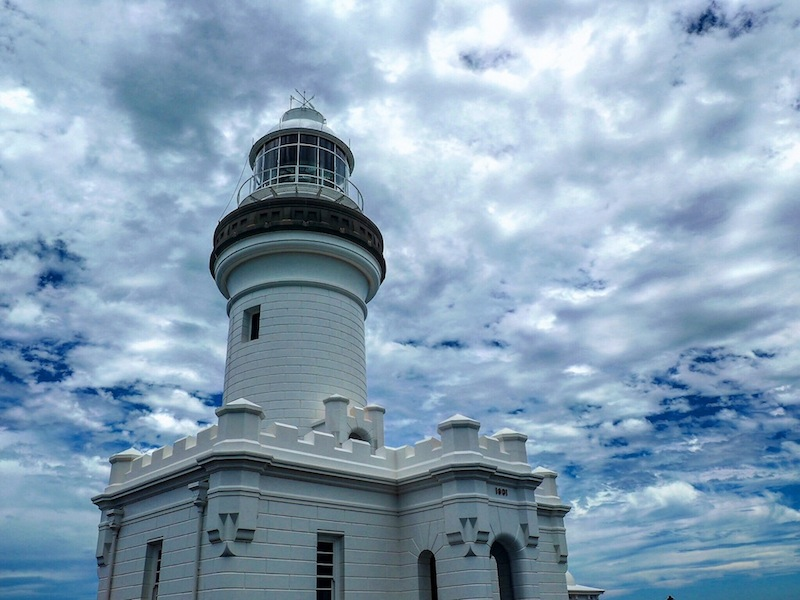 Moody clouds above Byron Bay Lighthouse