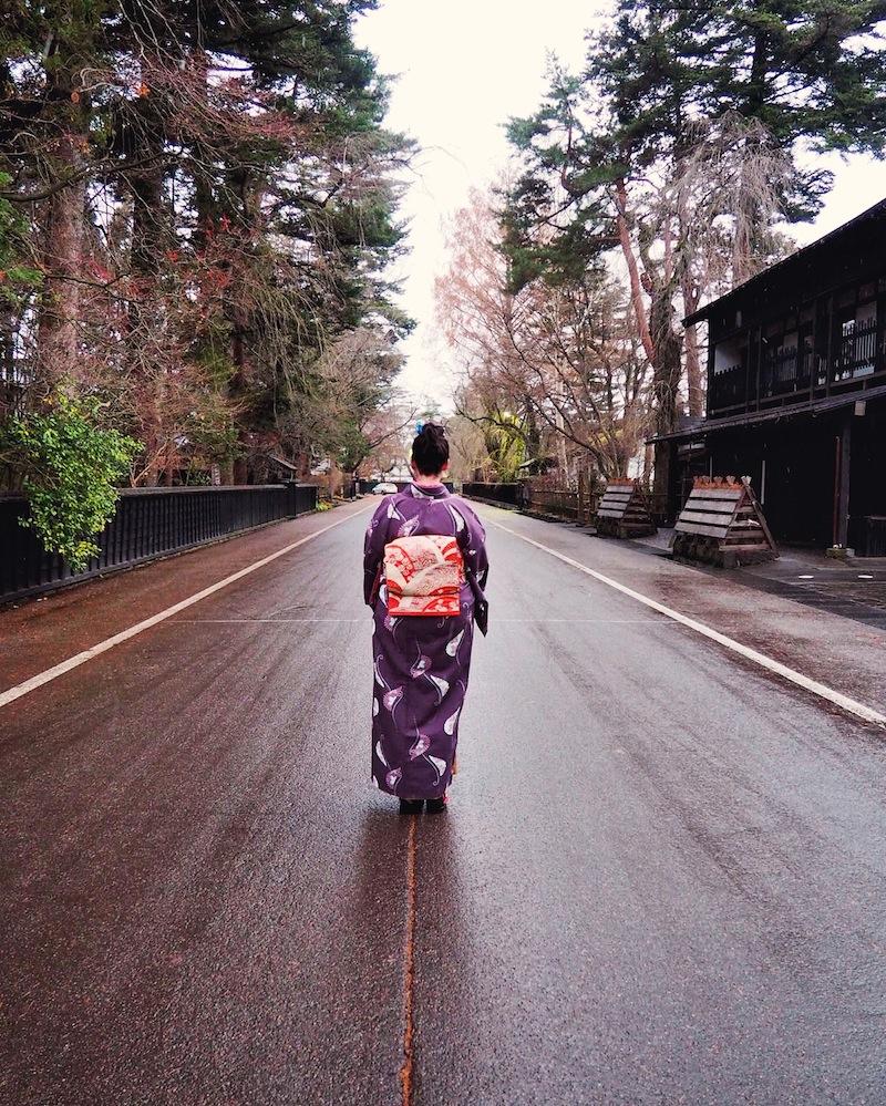 Wearing kimono in Tohoku