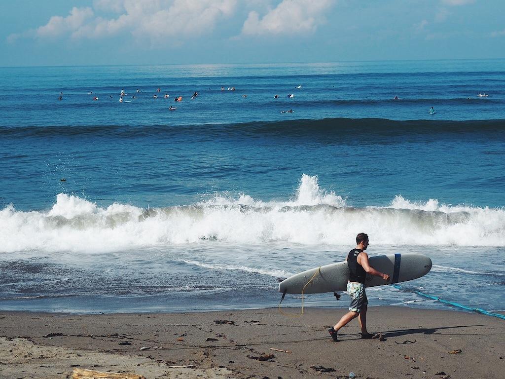 Canggu is big with surfers