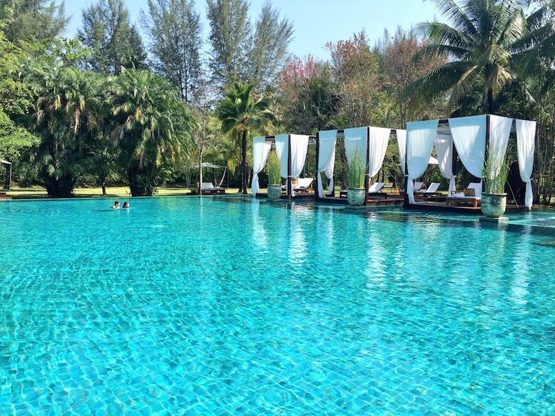 Insta-worthy pool at The Sarojin Khao Lak