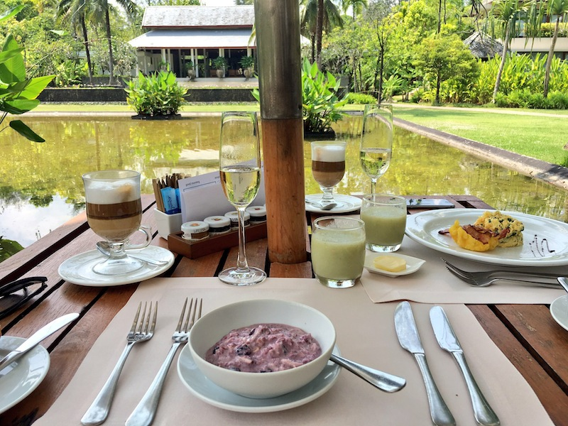 All day a la carte breakfast with sparkling wine at The Sarojin