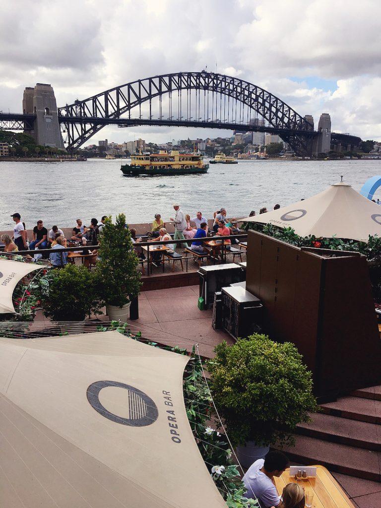 Drinks at Opera Bar Sydney