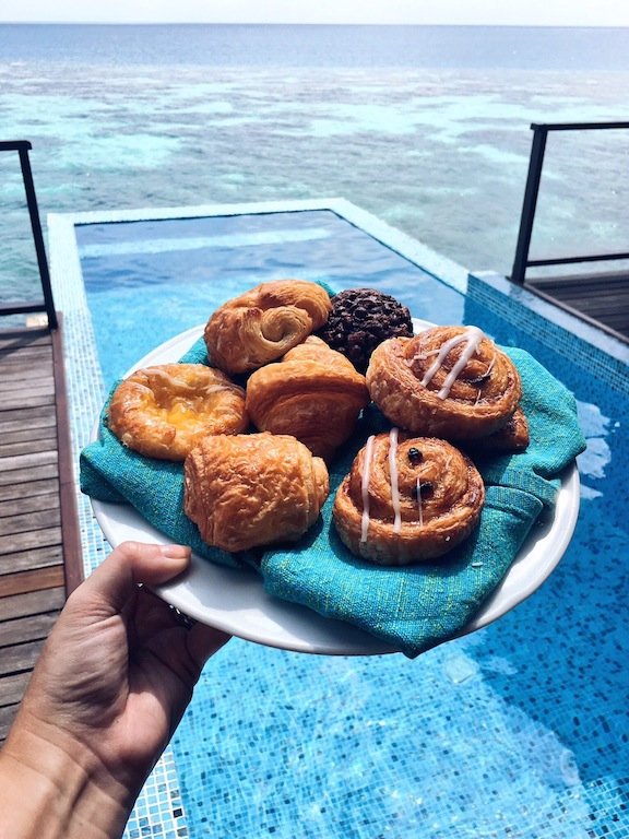 Poolside pastries
