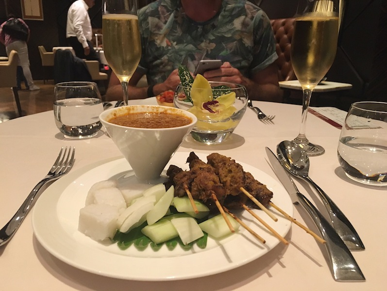 Generous satay in The Private Room