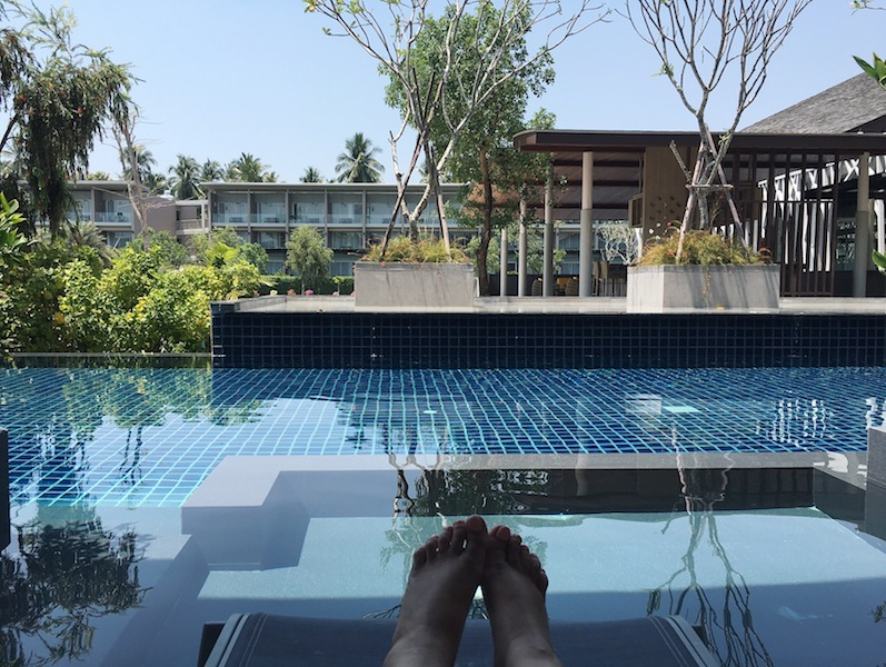 Chilling on the terrace of our pool access suite