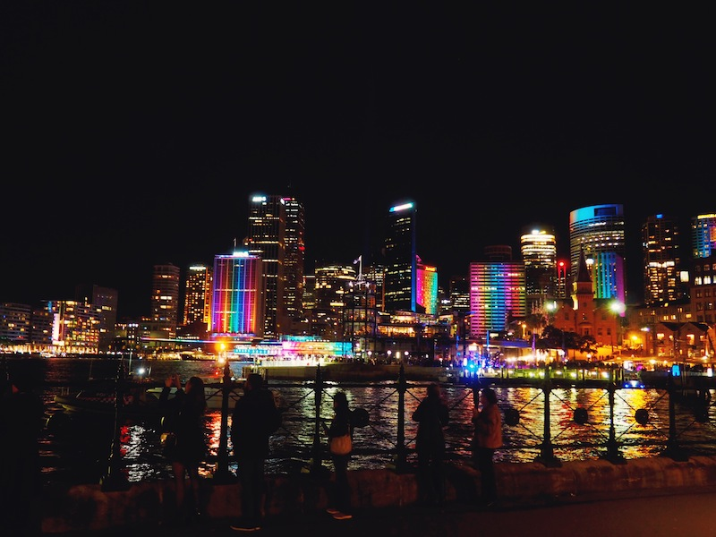 The city comes alive at 6pm every night during Vivid Sydney