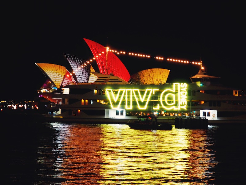 Even the boats get involved for Vivid Sydney