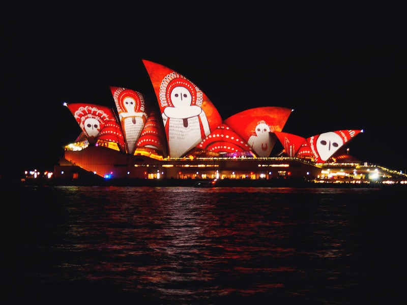 Songlines Lighting The Sails for Vivid Sydney 2016