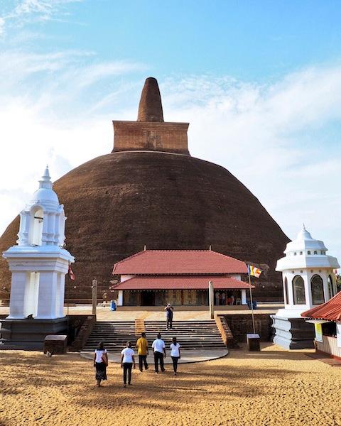 Ancient stupa at Anuradhapura