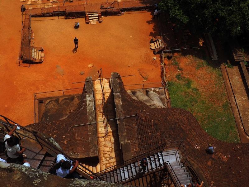 The awe-inspiring Lion's Staircase at Sigiriya