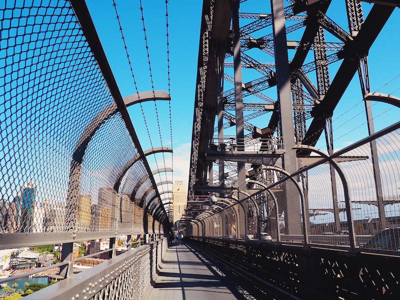 Walking across the Sydney Harbour Bridge