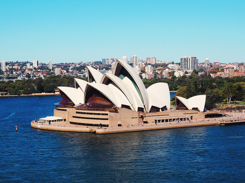 Views of the Opera House from Sydney Harbour Bridge