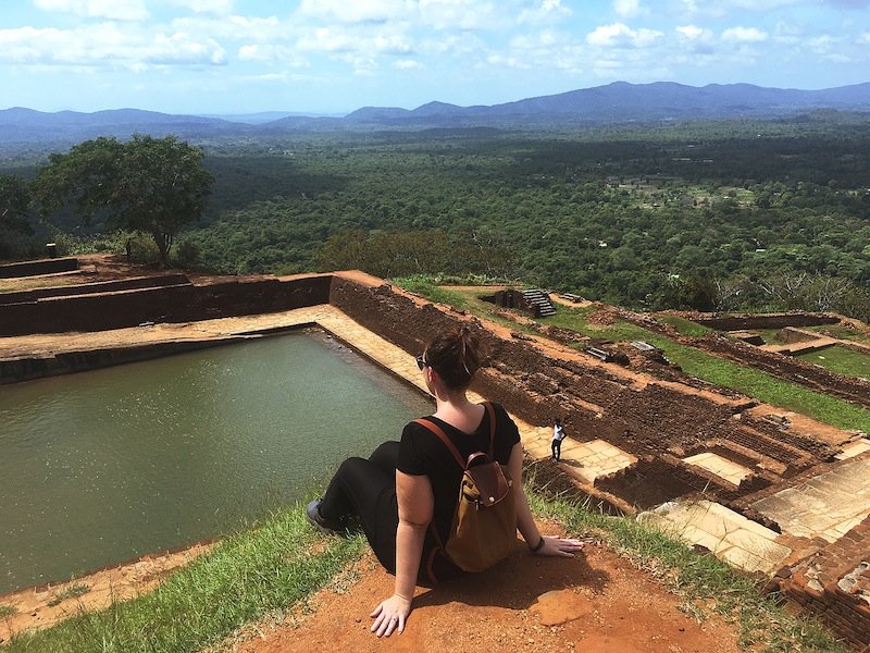 Soaking up the view from the summit of Sigiriya