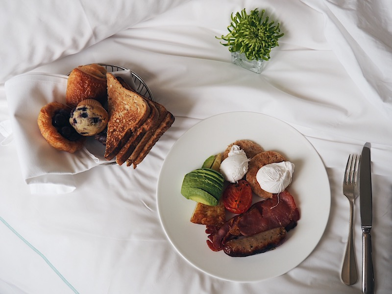 Breakfast in bed at One Aldwych