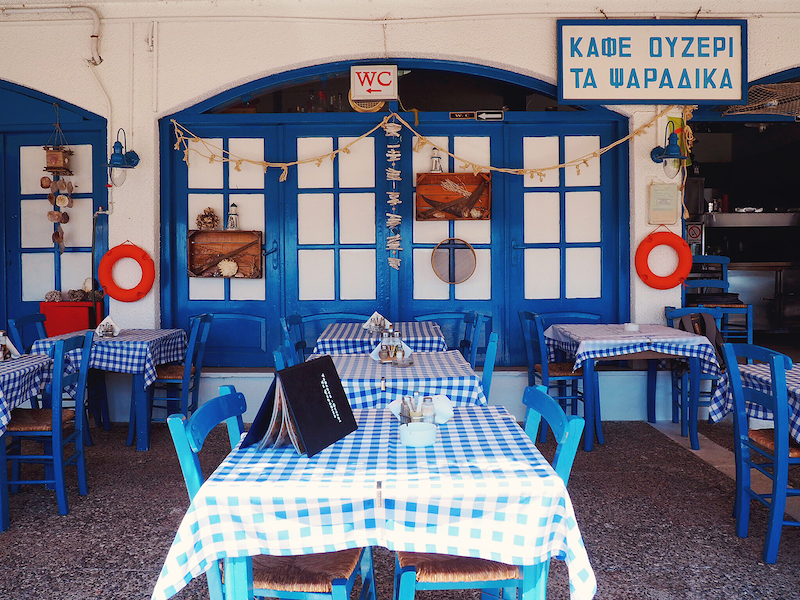 Taverna in Skiathos Port