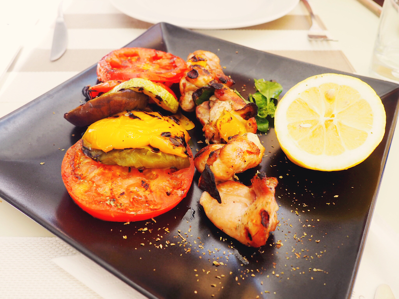 Sophisticated souvlaki at Skiathos Princess Hotel
