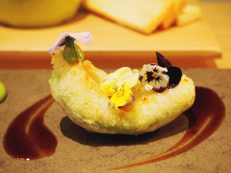 Avocado Tempura at Eneko - my new favourite thing