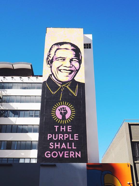 Mandela street art in Joburg