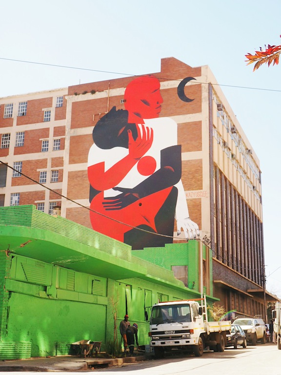 Street art in Maboneng Joburg