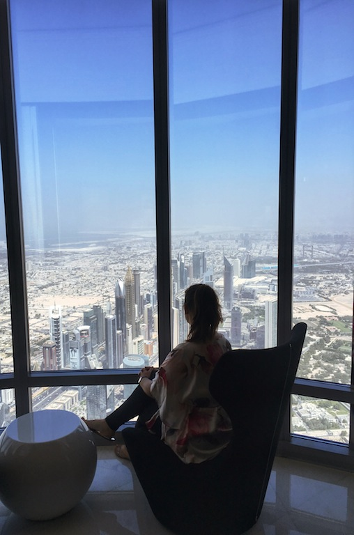 Soaking it all in from the lounge on level 148 of the Burj Khalifa aka the tallest building in the world