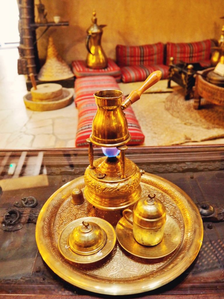 Trying traditional coffee in Dubai