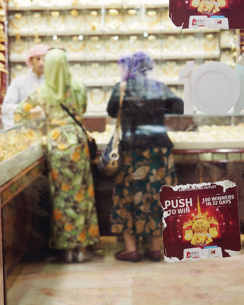 Ladies shopping in the Gold Souk Old Dubai