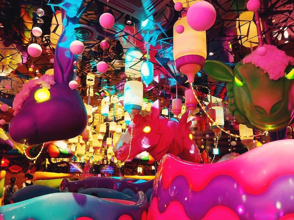 Out of this world decor at Kawaii Monster Cafe Harajuku Tokyo