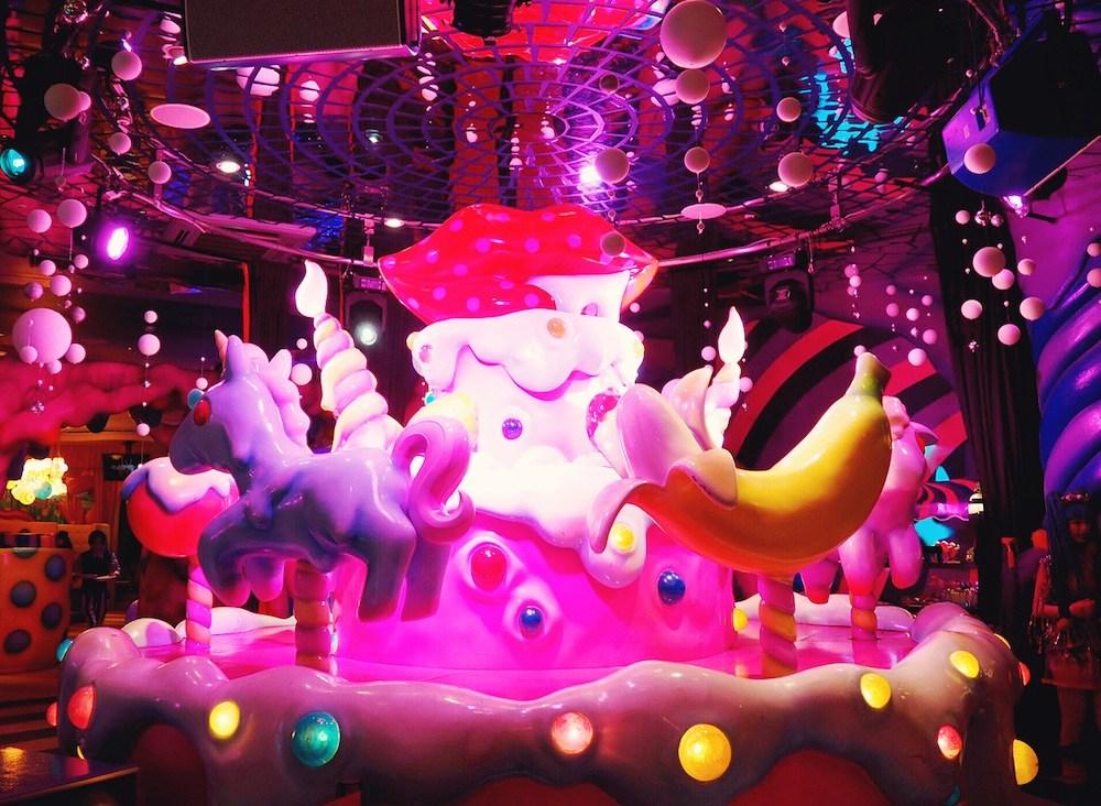 Indoor merry-go-round at Kawaii Monster Cafe Harajuku Tokyo