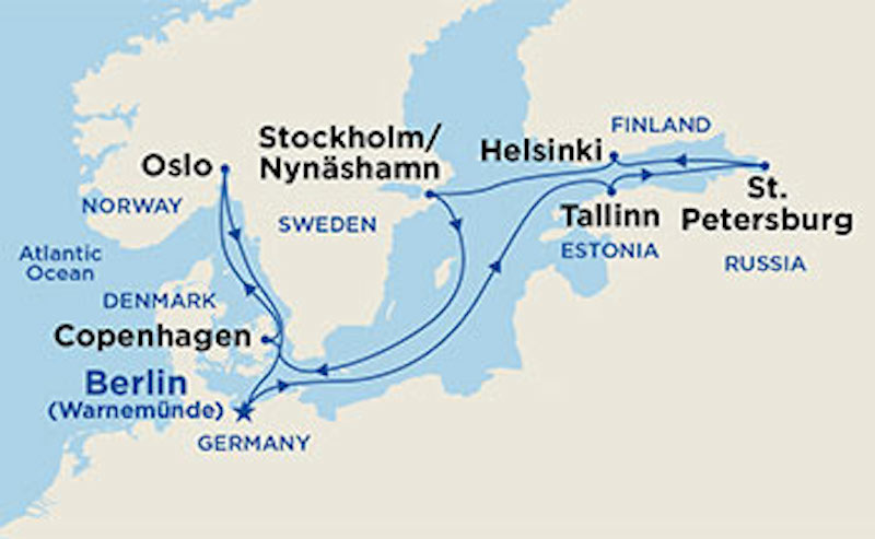 Regal Princess Scandinavia & Russia cruise