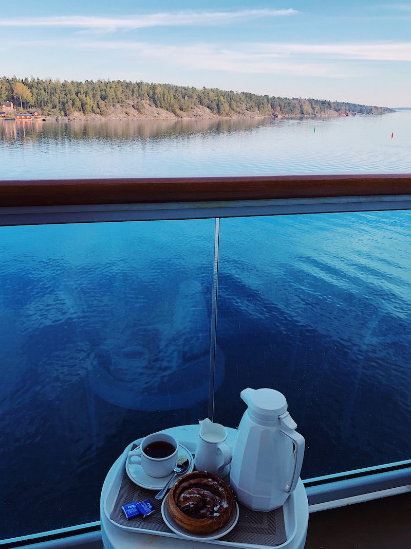 Fika at sea, Sweden