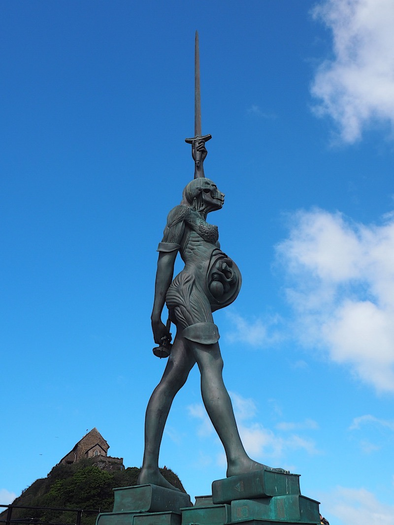 Damien Hirst Verity Statue Ilfracombe Harbour