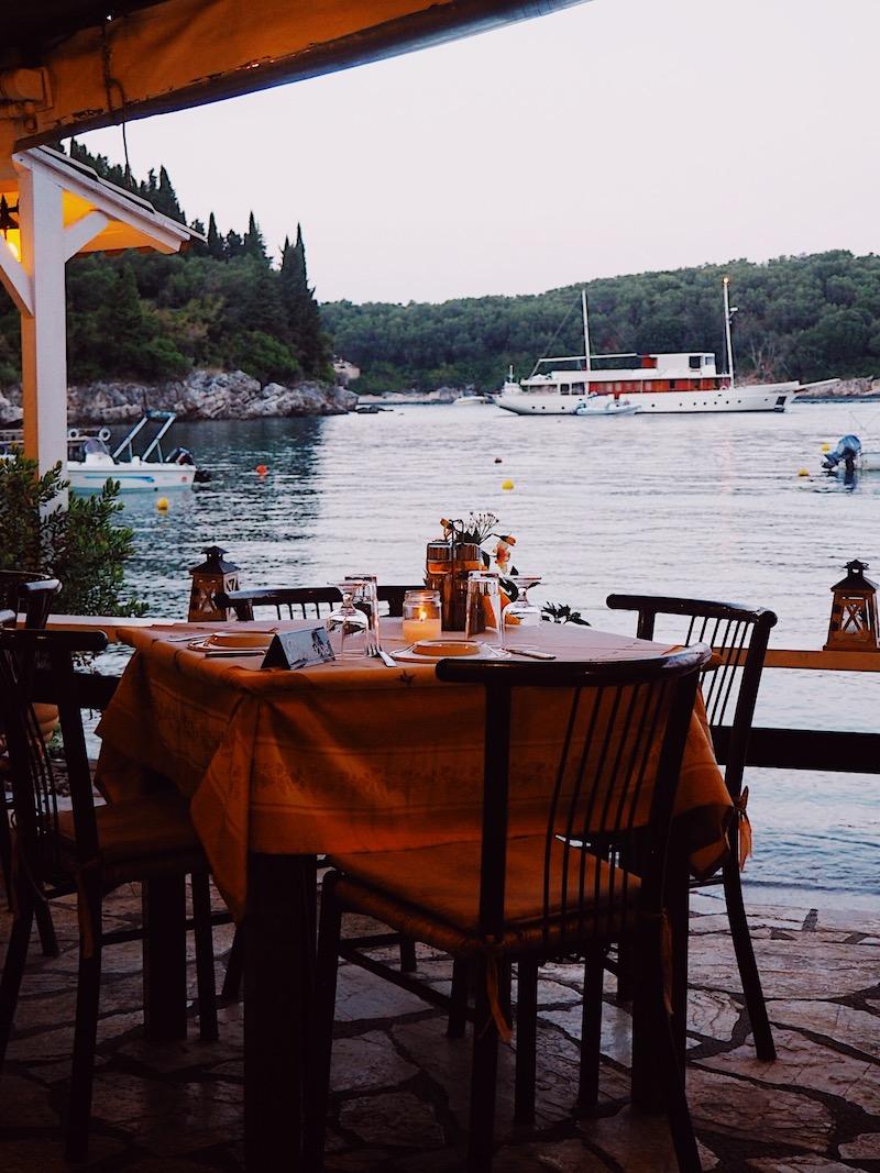 Nikolas Taverna Agni Bay Corfu