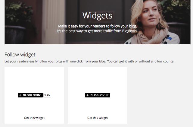 bloglovin widget