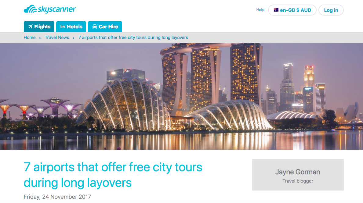 Skyscanner 7 Airports That Offer Free Layovers