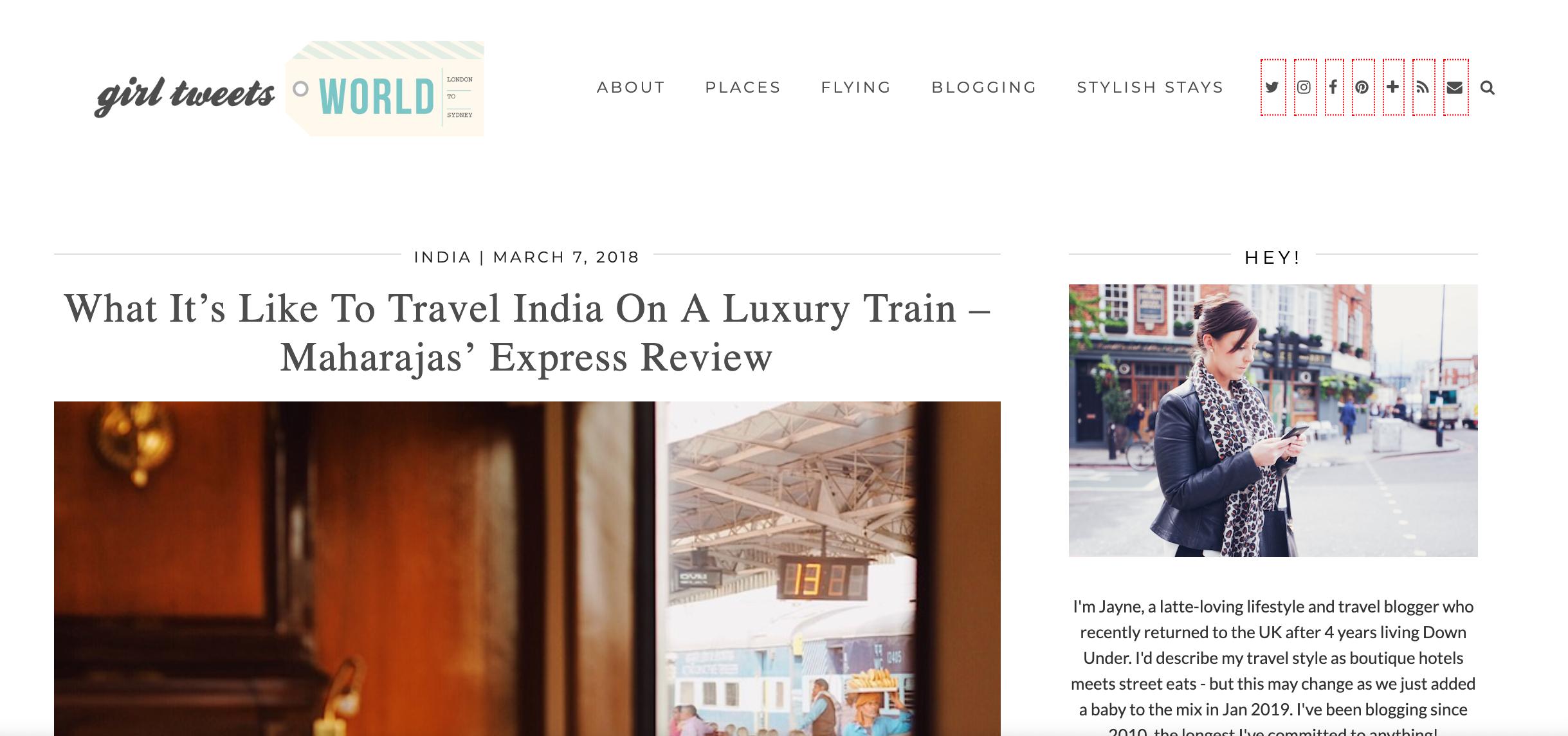 India Blog Train 2018