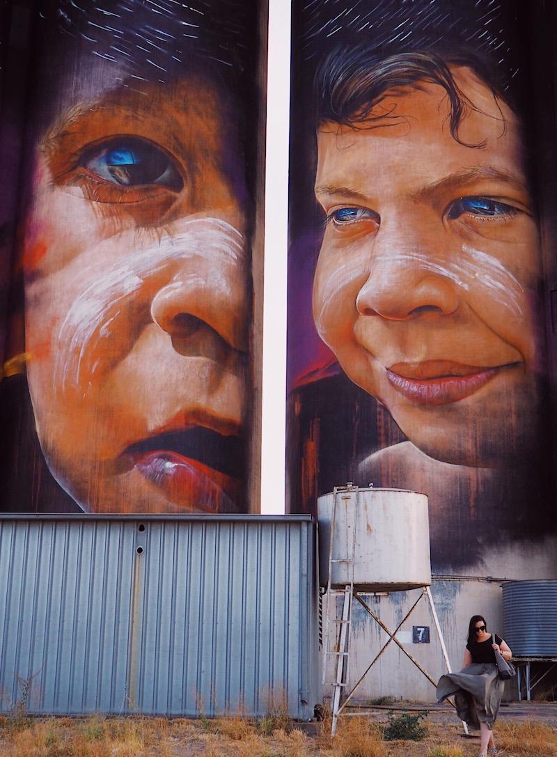 Adnate mural in Sheep Hills, Silo Art Trail