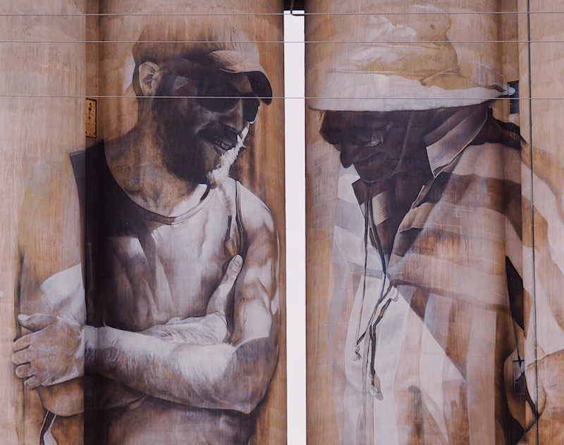 Brim Silo by Guido van Helten, Silo Art Trail