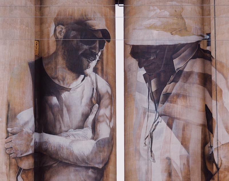 Brim Silo by Guido van Helten, Silo Art Trail