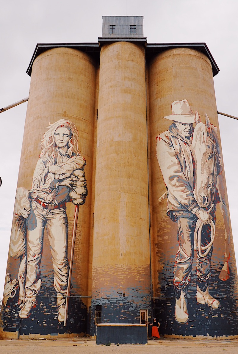 Rosebery Silo by Kaffeine - Silo Art Trail