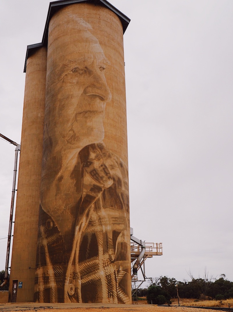 Lascelles Silo by Rone - Silo Art Trail