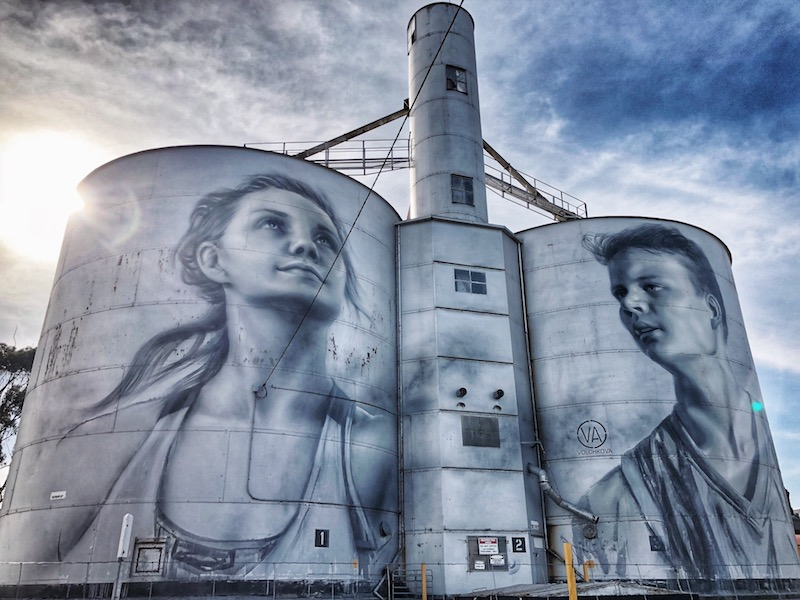 Rupanyup Silo by Julia Volchkova -Silo Art Trail