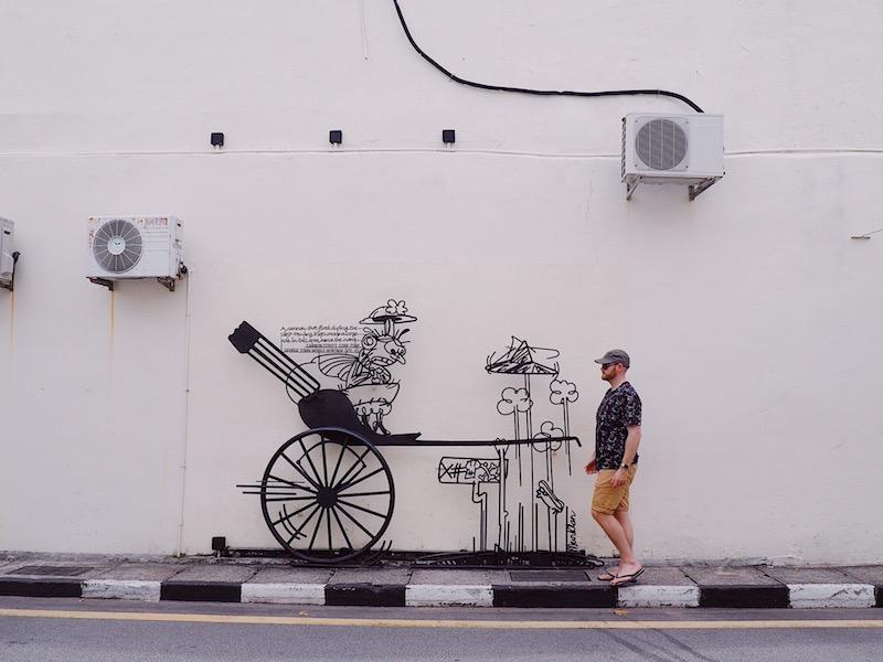 Sculptures at Work in George Town Penang