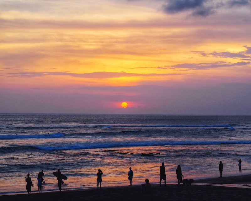 Sunset in Canggu Bali